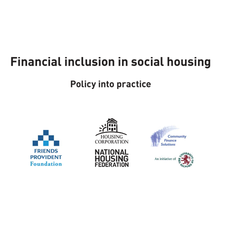 Financial inclusion in social housing: Policy into practice