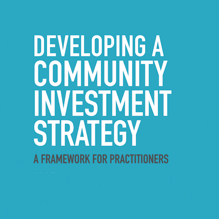 Developing a community investment strategy