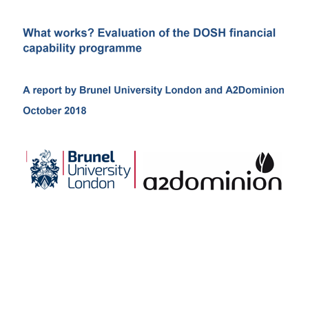 What works? Evaluation of the DOSH financial capability programme
