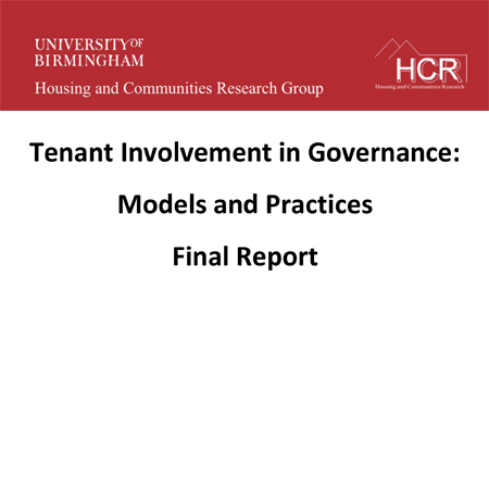 Tenant involvement in governance: models and practices