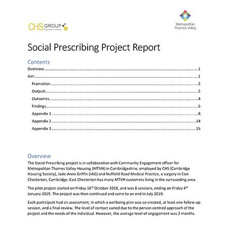 Social Prescribing Project Report