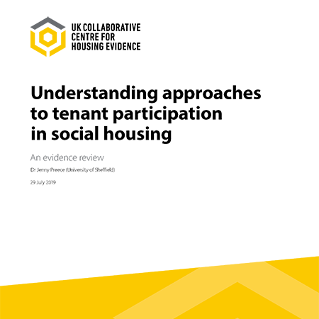 Understanding approaches to tenant participation in social housing