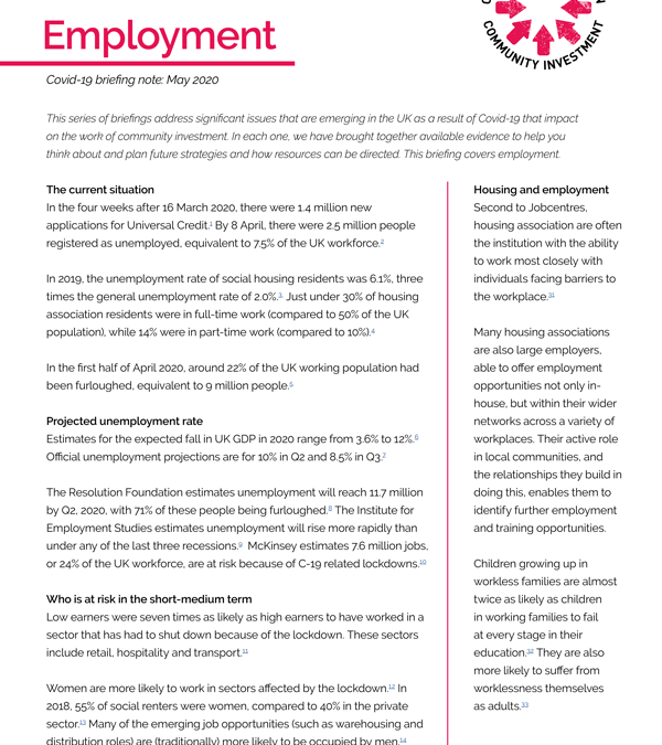 Employment and Covid-19 briefing
