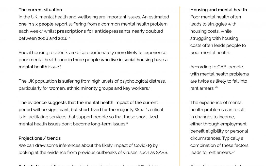 Mental health and Covid-19 briefing