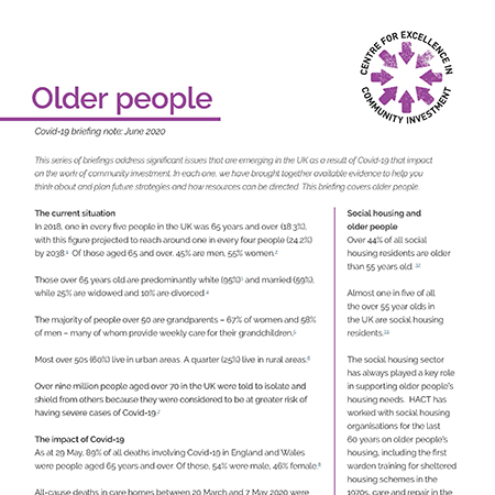 Older people and Covid-19 briefing
