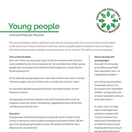 Young people and Covid-19 briefing