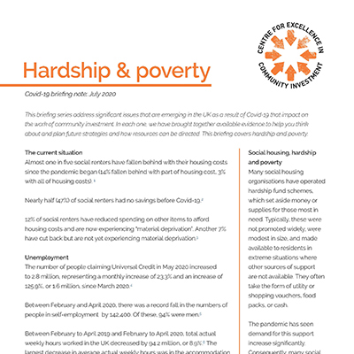 Hardship and poverty Covid-19 briefing