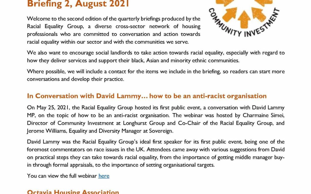 Racial Equality Group: Briefing 2